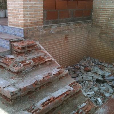 demolicion de escalera
