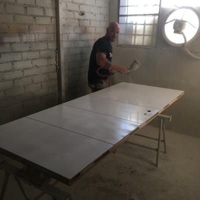 En el taller