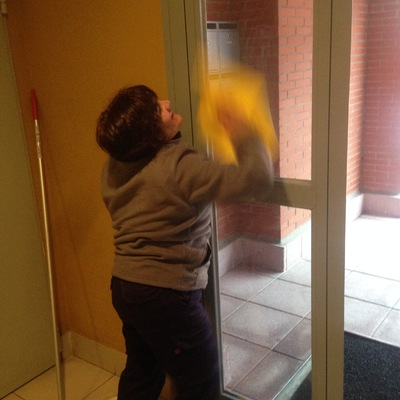 limpiando portal