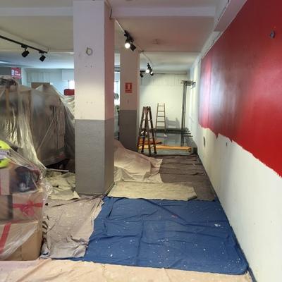 pintar paredes tienda