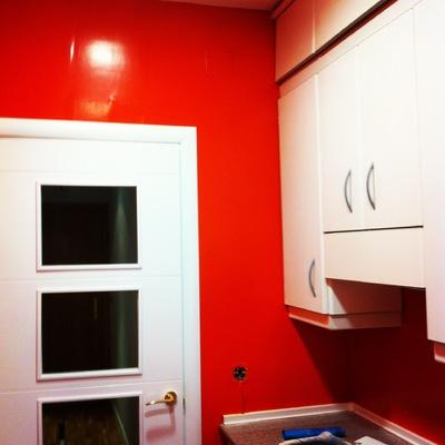 Cambio de azulejos por pared pintada