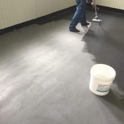 Detalle de barnizado de suelo
