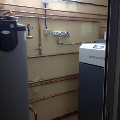 instalacion caldera de pellet