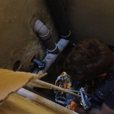 Trabajos verticales para conexion desagües (Bcn)
