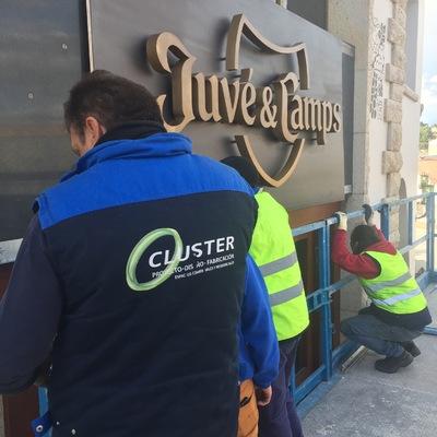 fabricación y instalación rotulo JUVE CAMPS