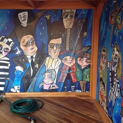 Mural temático (personajes del cine)