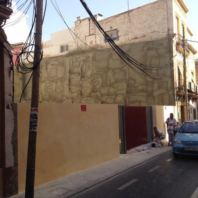 adaptación de solar a aparcamiento en calle real de Almería