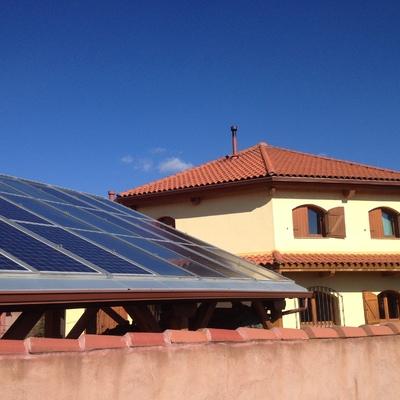 Instalación solar térmica con caldera KWB