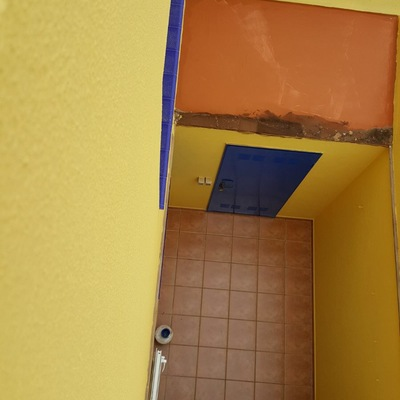 Pintura de patios terraza duplex