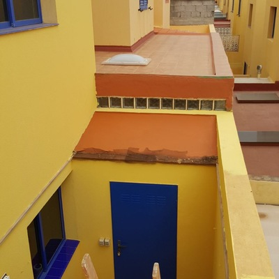 Pintura fachada exterior duplex