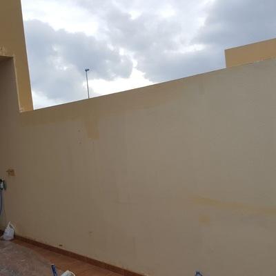 Pintura muros y terraza duplex