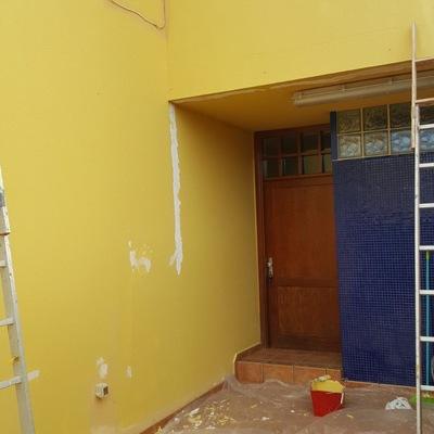 Pintura muros terraza duplex