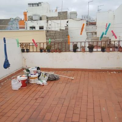Pintura y reparación muros azotea