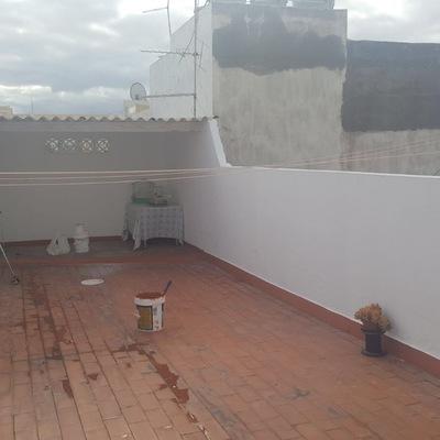 Pintura y reparación de muros azotea