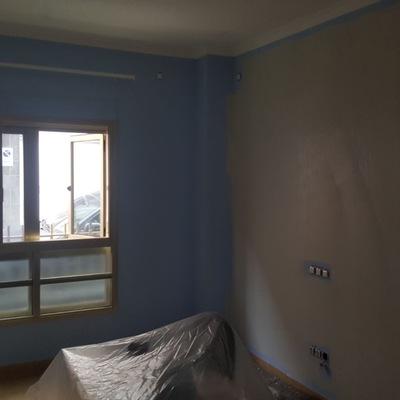 Pintura interiror vivienda habitaciones techos y paredes
