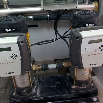 Instalación bombas de agua