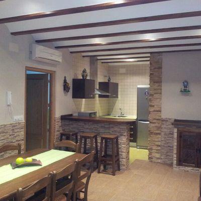 interior cocina campera
