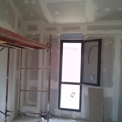 Intrados de Pladur y carpinteria de aluminio