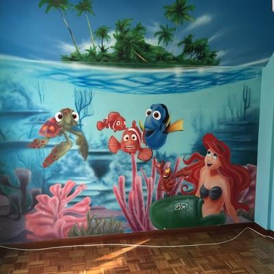 pintura habitación niños