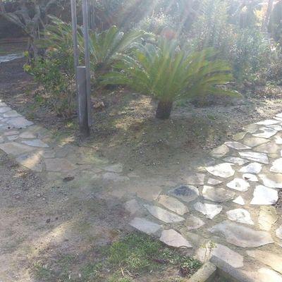 paseo de piedras