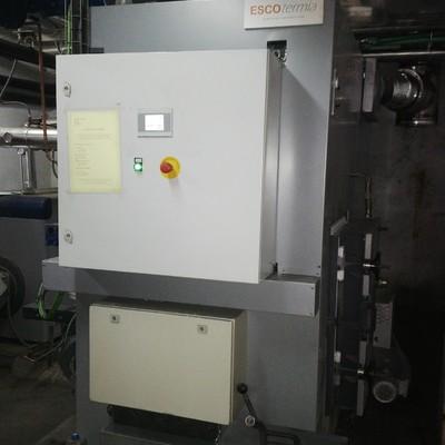 caldera de biomasa de 325 kW