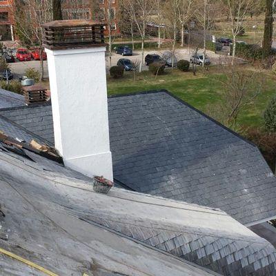 Rehabilitación cubierta edificio en Madrid