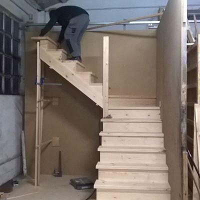 Fabricación de escalera