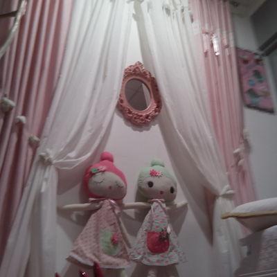 Ambiente de dormitorio juvenil de niña