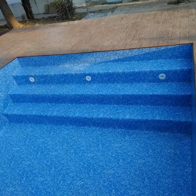 piscina reavilitada con liner armado