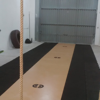 Suelo caucho macizo 40mm. machihembrado especial gimnasios - crossfit.