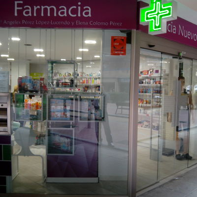 Fachada lateral Farmacia Nuevo Versalles