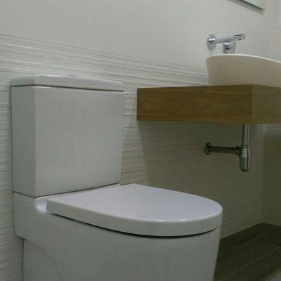 inodoro compacto y lavabo corian