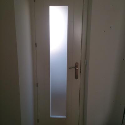 Puerta cristales embutido en hueco