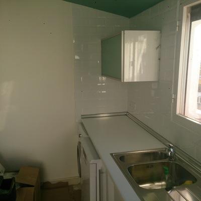 Mueble altillo abatible puerta aluminio