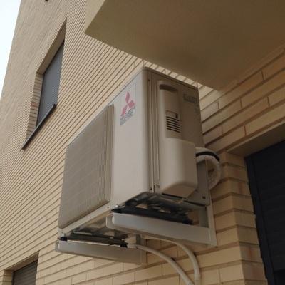 Instalación de unidad exterior Mitsubishi Electric en Albacete