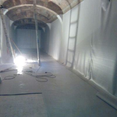 Impermeabilizacion con lámina PVC de Aljibe