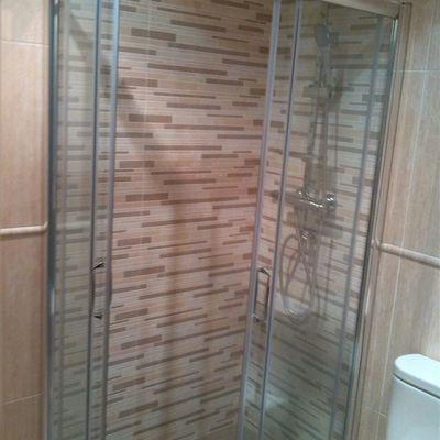 Cambio plato e interio ducha