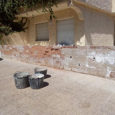 reparación muro de antejardin
