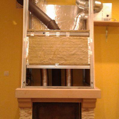 Campana para sistema de calefacción por aire caliente