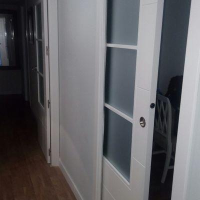 Puerta corredera cristalera