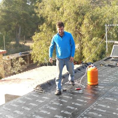 Permeabilidad de tejado con tela asfáltica