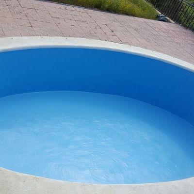 Trabajo de restauracion de piscina