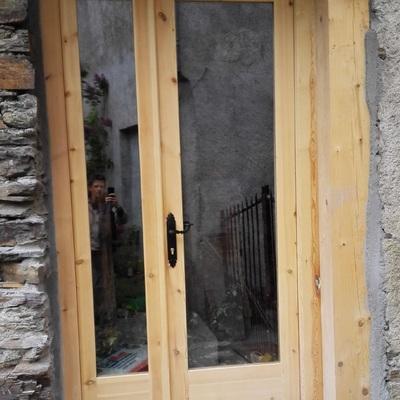 Puerta vidriera entrada casa