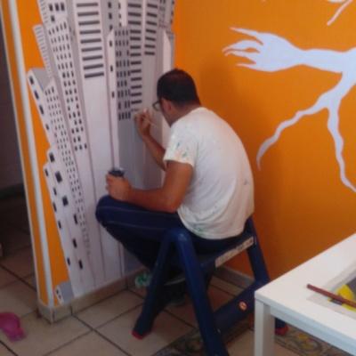 Pinturas Diaz en la obra
