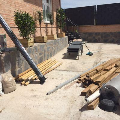 Preparación de terreno antes de la instalación