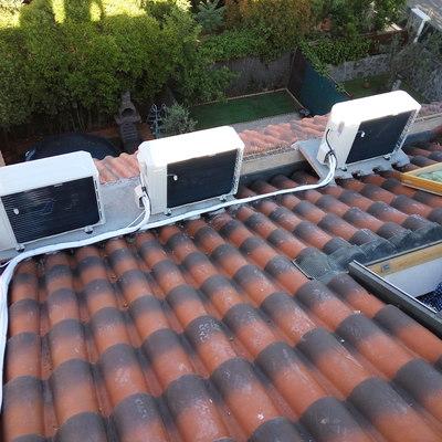 Base y condensadoras en tejado