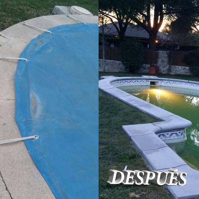 Reparación piscina cambio de piedras