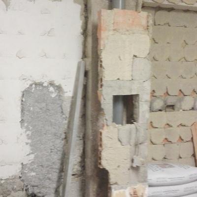 instalacion de bajantes-previo saneamiento de materiales deteriorados