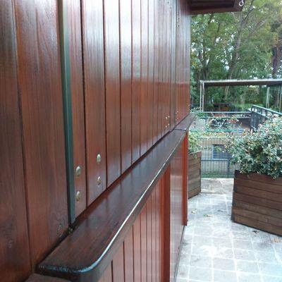 Fachada exterior jardín