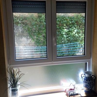 ventana de salon pvc blanco